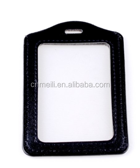 China holder id card in malaysia wholesale alibaba black faux leather business id credit card badge holder clear pouch case colourmoves