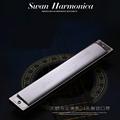 24 Holes Swan Harmonica Professional Tremolo Harmonica Silver Armonica C D E F G A B