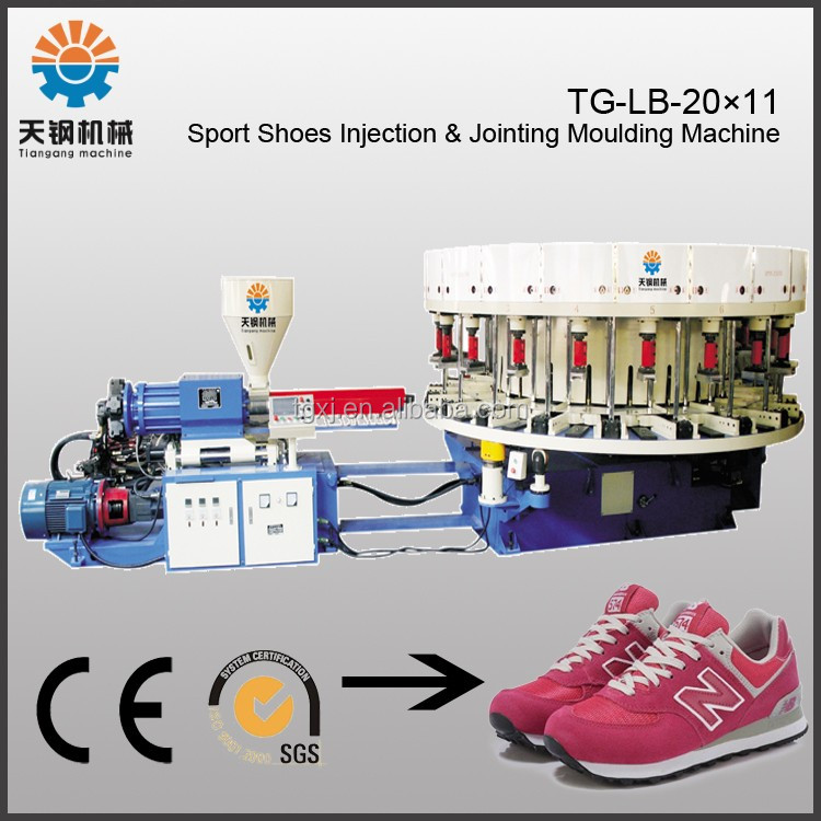 Single color PVC DIP sole injection moulding machine sport shoes machine