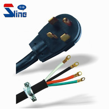 30A USA 4 Prong Dryer power cord NEMA 14-30P Four pin Power plug with SRDT Round cable leads for American US America Canada used