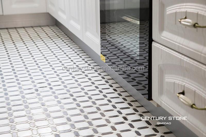 Cucina design delle camere mosaici di marmo mattonelle lucidate bianco e nero mattonelle di - Mattonelle pavimento cucina ...
