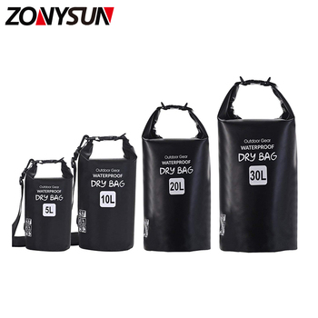Factory custom 5L 10L 15L 20L 30L PVC waterproof dry bag backpack For Outdoor Sports
