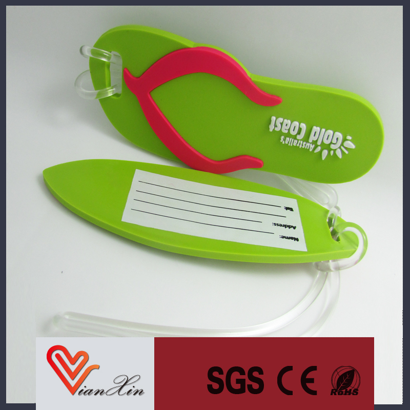 custom soft pvc luggage tag made in China
