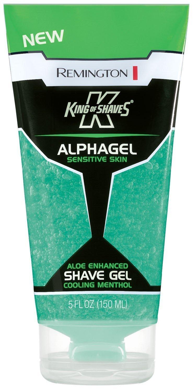 Remington, King of Shaves, Alphagel, Cooling Menthol Shave Gel 5 Oz. (Pack of 4)
