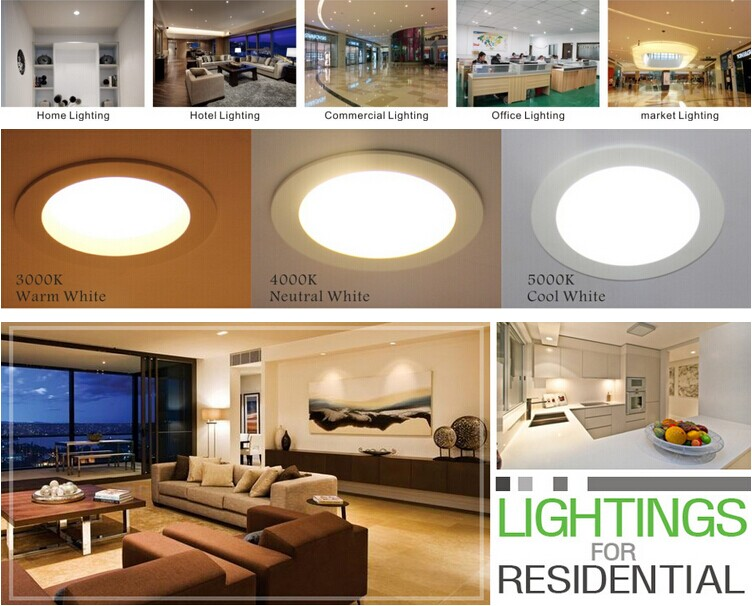 3inch saa cut hole 90mm hotel led downlighting ul listed for Living room 2700k or 3000k
