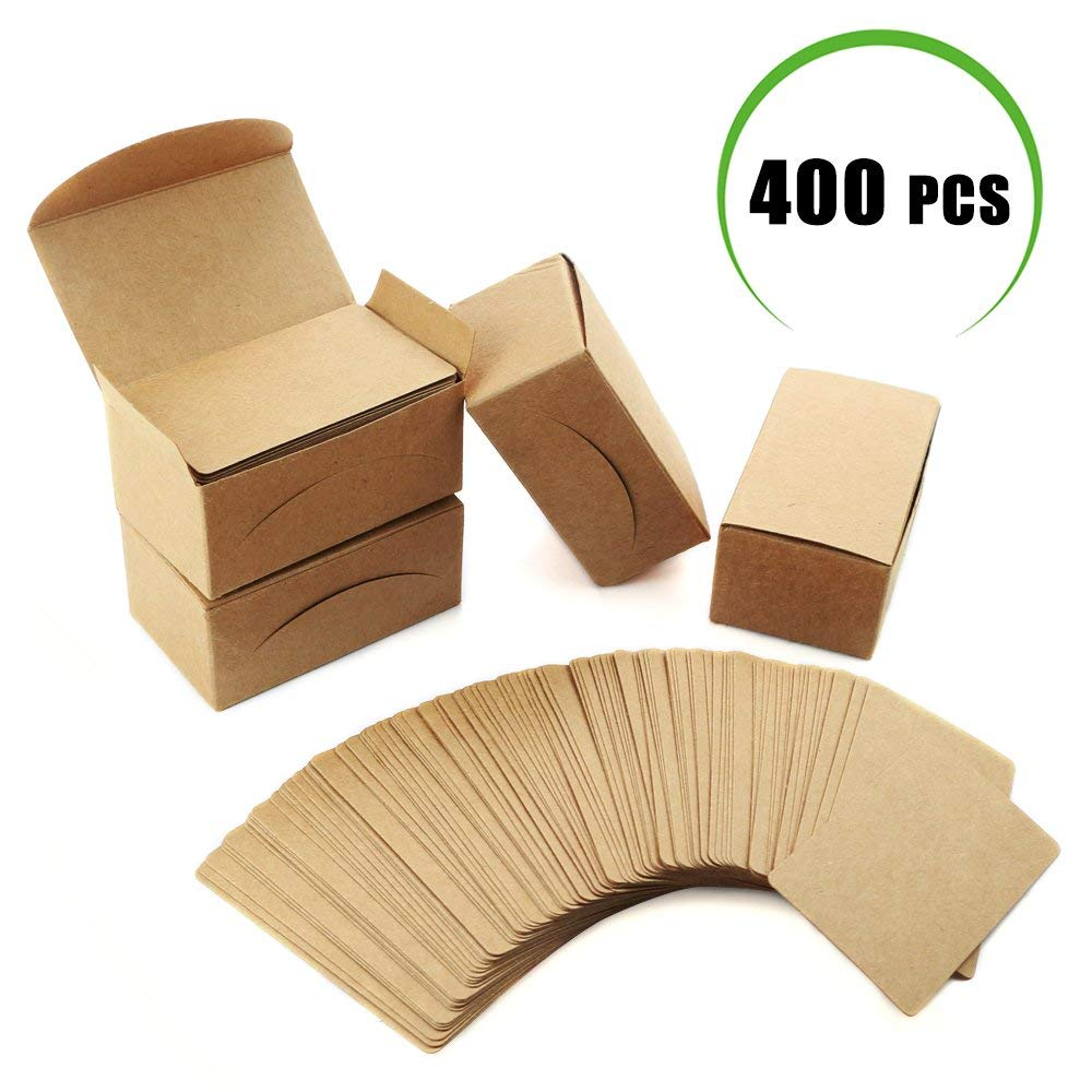 100Pcs Blank Cards Kraft Note Paper Business Cards Vocabulary Word Card Message Card DIY Gift Card Blank Paper Tags(Wood color)