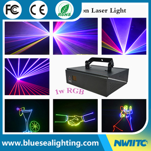 Full color dj disco mini beam spot 1w rgb 3in1 stage laser light