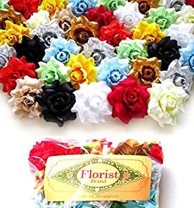 f72323a9dd0d1 Buy (100) Silk Orose Roses Flower Head - 1.75