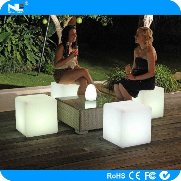 LED mood light cube for special events / outdoor waterproof LED illuminated cube furniture
