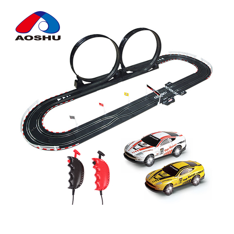 Hobbie electric slot toys diy race track 1:43 scale rc race car track by wire control