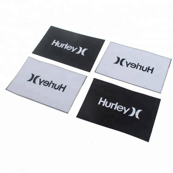 Eco-friendly Sew on Custom Famous Clothing Brand Name Logos Hot Cut Woven Labels for T-shirts