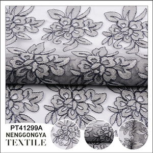 Wholesale flower embroidery tulle net lace fabric market in dubai