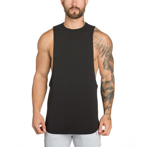 Mens Custom 100% Cotton Sleeveless T Shirt Tank Top Gyms Fitness Bodybuilding Sleeveless Shirt Undershirt Leisure Stringer Vest
