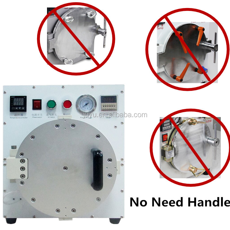 Factory Driect sale!!! Now coming 110v/220v Automatic no need handle Autoclave/remove bubble machine easy to operate