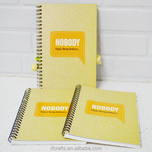 Customized Print Promotion Custom Spiral Notebook