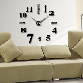 Home Decoration!big Number Mirror Wall Clock Modern Design,large Designer  Wall Clock.