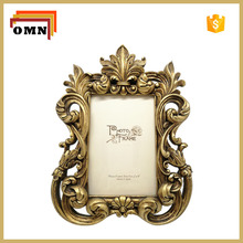 Antique gold Resin Photo Frame For Home Decoration