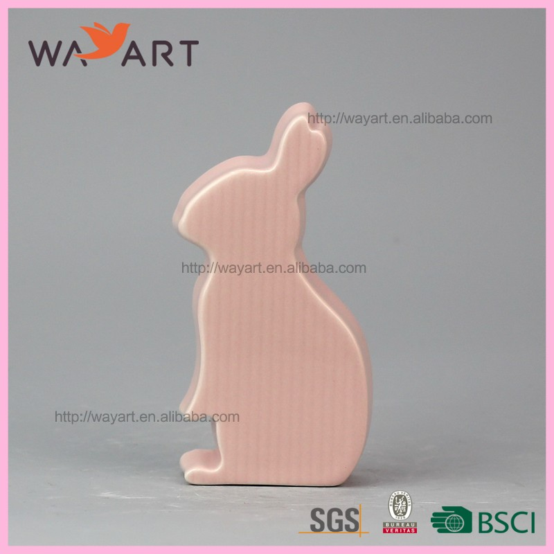 New Design Pink Rabbit Ceramic Kids <strong>Art</strong> and Crafts