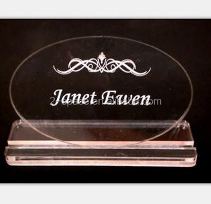 acrylic Business Card Slip-in stand Acrylic Paperweight stand