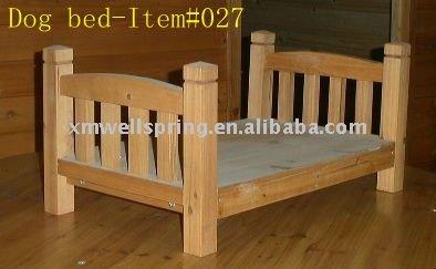 Cama del perro de madera de buena calidad jaulas - Camas para perros de madera ...