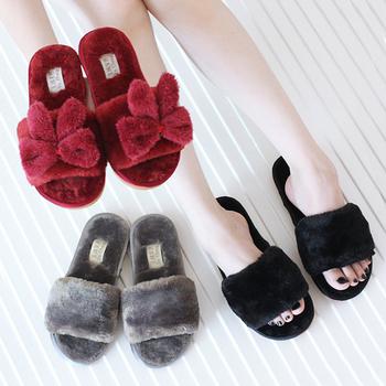latest girls new models plush slippers