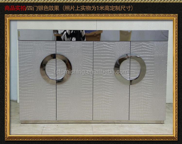 Credenza Buffet Moderna : F421 moderna contemporanea acciaio inox argento oro imitato in pelle