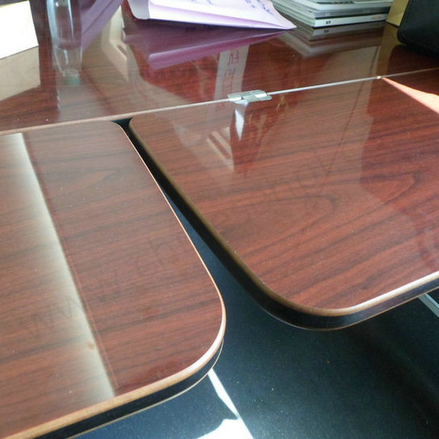 LIJIE Custom Hpl Compact Laminate Table Top High Gloss Wood Grain Laminate