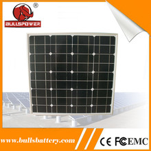 High conversion rate luminous solar cell 12v 18V 50w poly solar panel