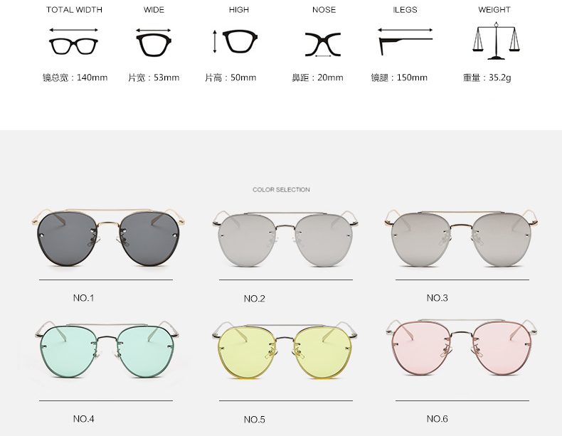 New arrived Colorful Beach Women Wholesale Glasses UV400 Metal Frame Sunglasses PA857