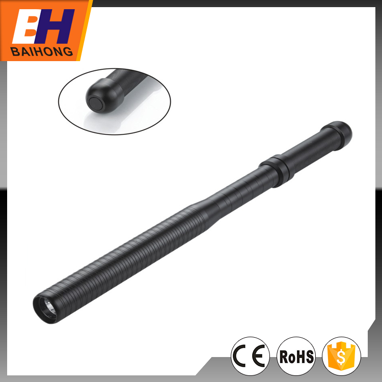 High Power LED Riot Baton Flashlight, Function of 100% on, 50% on, Strobe, Powered by 3xAAA, Can be as a Security Light