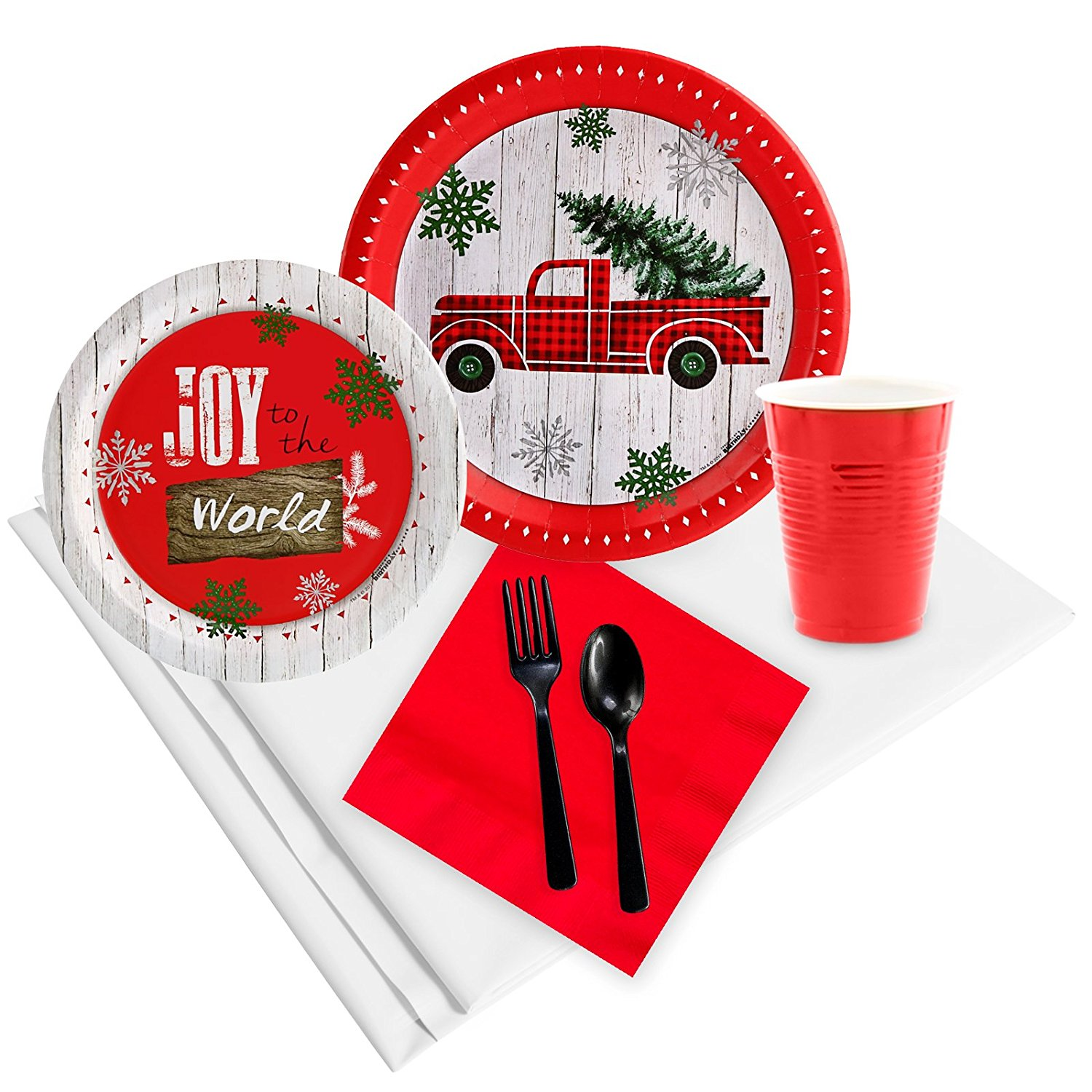 Woodland Winter Lodge Holiday Party Pack (32 Guest)