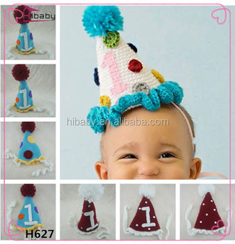 h627 baby hand knitting party hat birthday gift christmas hat suppliers in china