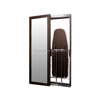 Sliding door wall mounted Foldable mirror commercial hotel ironing board from sunrise