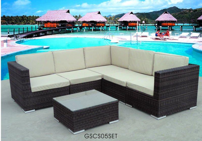 Sofá De Mimbre Al Aire Libre Patio Sunroom Muebles - Buy Product on ...