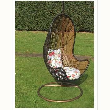 Rattan Hanging Chair Garden Seat Patio Egg Swing Comfortable Cushion Relax