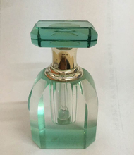 CLEAR COLLECTIBLES Crystal Green Perfume bottle MH-X0826