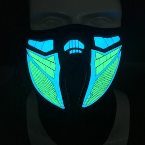Sound reactive Halloween led party Mask with custom designs