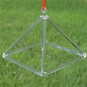 HF Wholesale Fengshui Crystal Glass pyramids Singing With Low Price For Musical Use