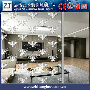 Decorative art plate tempered laminated glass mirror price