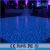 remote control led acrylic sparkle black and white starlit dance floor for weddings