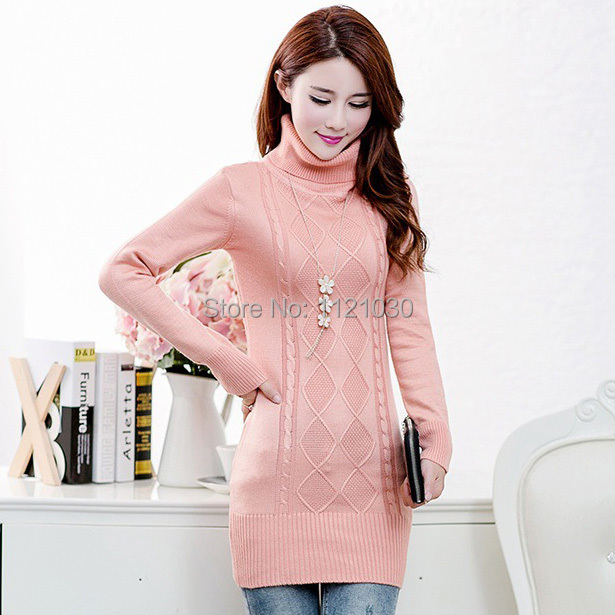 Get Quotations · New Winter Women Casual Long Sleeve Knitted Turtleneck  Sweater Autumn Crochet Women sweaters and pullovers 2015 5be798812