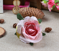 2016 Guangdong old fashioned artificial rose flower head for cloth