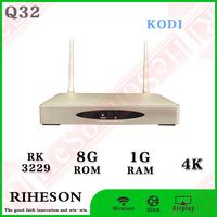 RK3229 1g wifi digital cable tv set top box UK/US/Europe power adapter