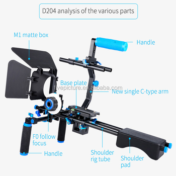 Professional Dslr Rig Shoulder Holder Video Camera Stabilizer Support  Cage/matte Box/ Follow Focus For Canon Camera Camcorder - Buy High Quality