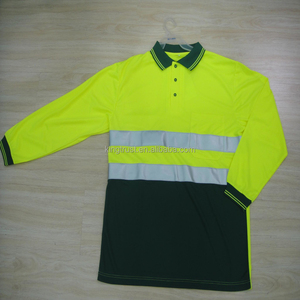 Professional Factory Supplies Men's Dry Fit Hi Vis Polo For Work Uniform