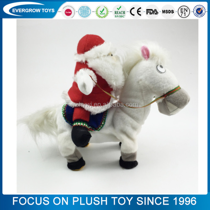 hot father christmas electric horse singing christmas toys