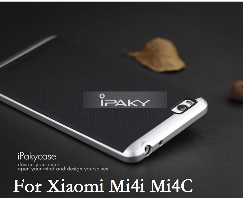 buy popular 7f0ee bb91d For Xiaomi Mi4i Mi4C Case Original IPAKY Neo Hybrid PC Frame & Silicone  Back Cover For Xiaomi Mi 4C M4i Capa Fundas 2 in 1 Shell
