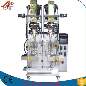 High speed double line auto salt packing machine/ sugar filling equipment