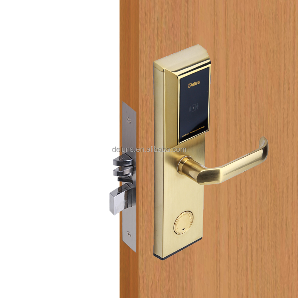 dls2000-d91 Network RF card hotel door lock,Battery powered door lock for hotel