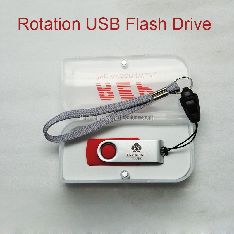 Promotional Gift oem Customized Logo 4GB Usb Flash Drive Pendrive with PVC box package for USB2.0 port
